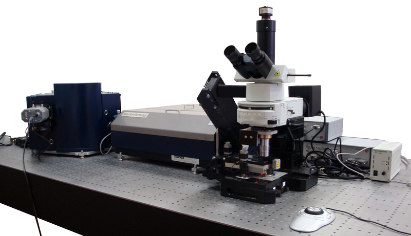 Centaur U HR - integrated SPM and high resolution spectrometer, optical and confocal microscopes