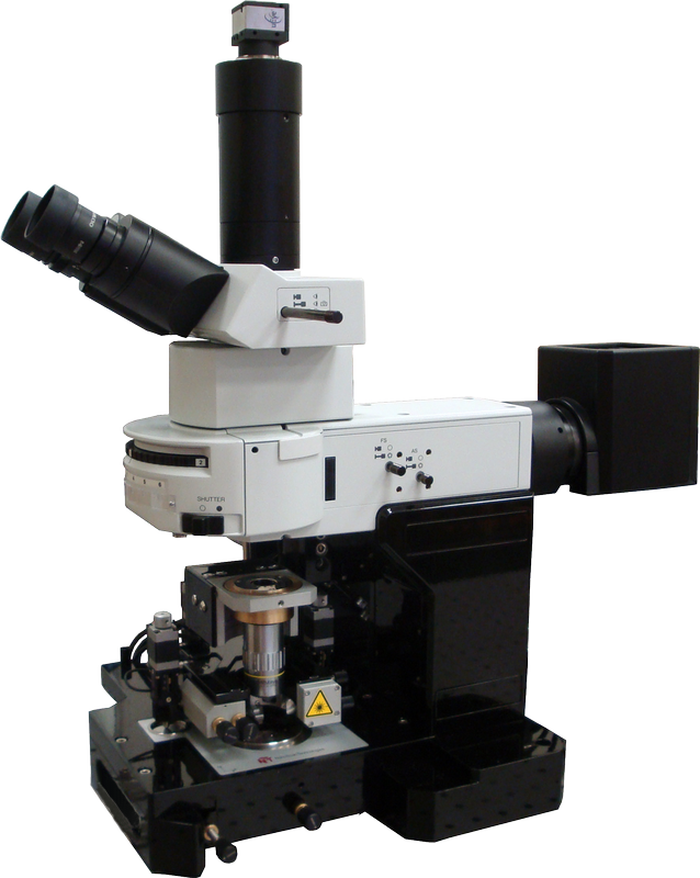 Atomic Force Microscope (AFM) Certus Optic U with uprigh optical microscope (Olympus BX51)